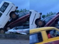 Pandemonium In Benin As Three Vehicles Crashes while Trying To Beat Curfew