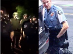 VIDEO: Dozens of Police Officers Guarding Home of The Officer Who Killed Geroge Floyd