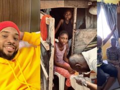 Wow! Nollywood Actor, Williams Uchemba Buys New House For A Family Living In A Slum (Video)