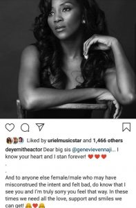 Actor Deyemi Apologizes To Genevieve Nnaji For Making Jokes Out Of #WomenSupportingWomen Challenge