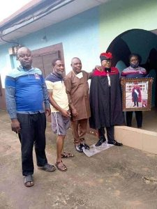 Shocking Photos Of Family Members Taking Pictures With Standing Dead Man