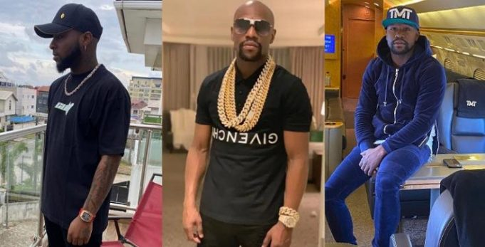 """""""Davido's Entire Net Worth Of $18million Is The Cost Of Floyd Mayweather's Wrist Watch"""" – Man Says"""