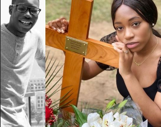 """""""I Love You Now And Forever Alex"""" – BBNaija's Khafi Writes As She Visits Her Brother's Gravesite"""