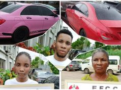 Uniport Undergraduate, His Mother And Girlfriend Arrested For Internet Fraud, See Photos Of Their Expensive Cars