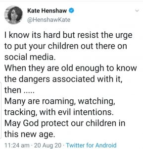 """""""Resist The Urge To Put Your Children Out There On Social Media""""- Kate Henshaw Warns Parents"""
