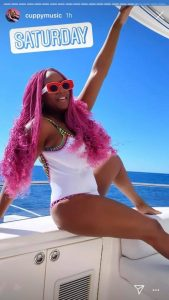 Too Much Money! DJ Cuppy Goes On A Boat Cruise In Monaco, Shares Cute Cute Swimsuit Photos