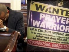 Lagos Church Begs Unemployed Nigerians To Apply For Prayer Warrior Vacancies, Salary Above N30k (Photo)