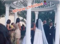 Drama As Woman Storms Wedding Ceremony Claiming To Be Pregnant With Groom's Child (Video)