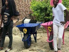 "Ikorodu Bois Challenge Dj Cuppy To A Race While Showing Off Their Own ""Ferraris"""