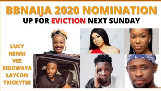 BBNaija2020: Names Of Housemates Up For Possible Eviction This Week