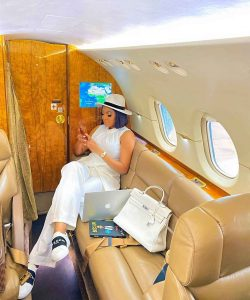 Ned Nwoko's Alleged Mistress, Chika Ike Flies a Private Jet To Business Meeting (Photos)