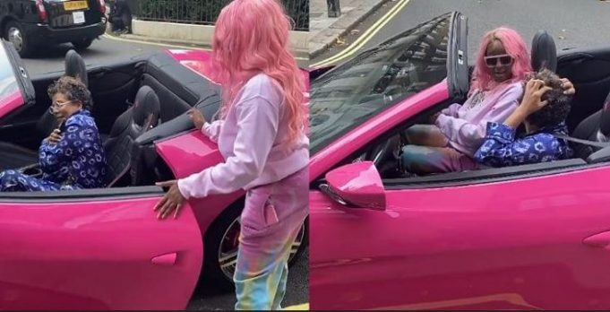 Video Of DJ Cuppy Taking Her Mum On First Ride In Her Ferrari