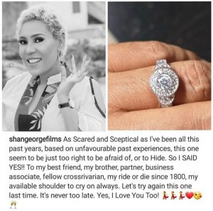 Nollywood Actress, Shan George Gets Engaged After Three Failed Marriages