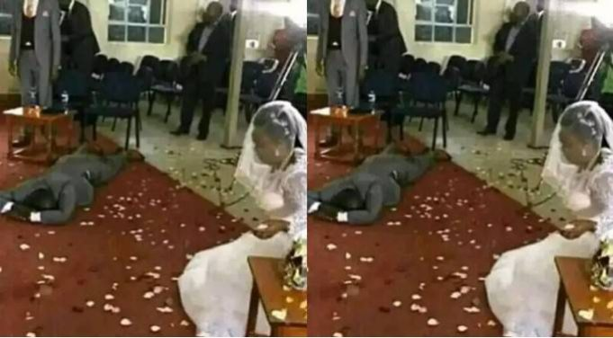 Groom Faints After Finding Out His Bride's Deadly Secret On Their Wedding Day (Photo)