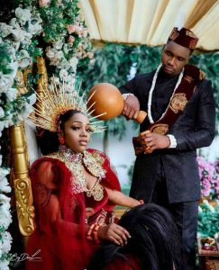 Stunning Traditional Wedding Photos Of Nollywood Actor, Jideofor And His Bride