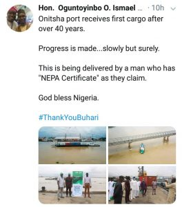 Nigerians Jubilate As Onitsha Sea Port Becomes Functional After Decades (Photos/Video)