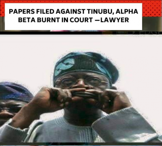 Case Against Bola Tinubu Suffers Setback Because All The Papers Burnt In Court...