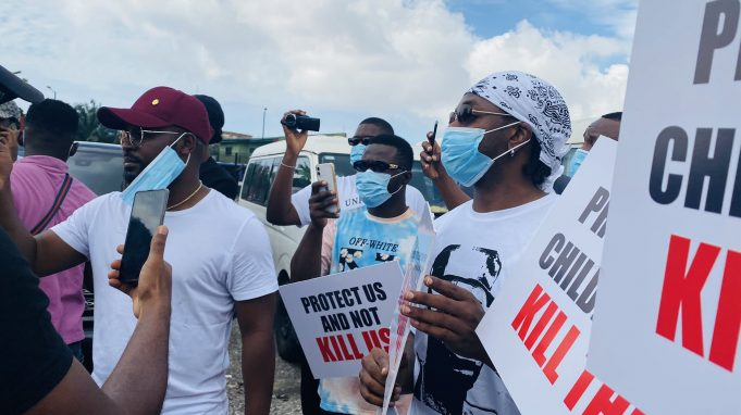 UPDATE: Falz, Runtown Lead #EndSARS Protest In Lagos (Photos)