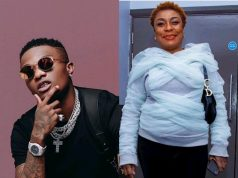 Wizkid Surprises Burna Boy's Mother With A Beautiful Birthday Gift, See What He Got Her (Photo)