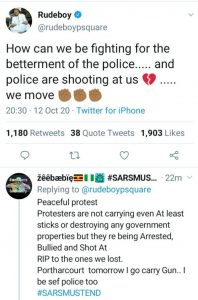 Rudeboy Angrily Blasts Police for Shooting #EndSARS Protesters