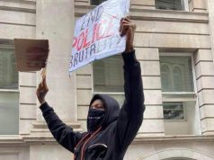 Nigerian musician, Wizkid has joined thousands of other protesters in London to campaign against SARS. Wizkid protesting against SARS in London Wizkid protesting against SARS in London Nigerian superstar musician, Wizkid joined other Nigerians in faraway London to protest against the brutality of the Special Anti-robbery Squad of the Nigeria police. He was spotted in London alongside other protesters with placards saying 'End police brutality'. See another photo: