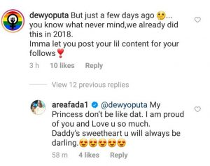 Charly Boy's Daughter, Dewy Calls Her Father Out After He Revealed How He Felt About Her Sexuality